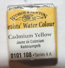 Winsor & Newton HALF PAN Watercolor-CADMIUM YELLOW Series 4A