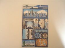 Jet Setters Travel Illinois Scrap Book Stickers