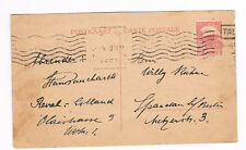 ESTONIA Postal Card 1921 used to Germany 1 Mark Stamp   (B6/2)