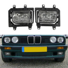 2PC Front Bumper Clear Plastic Fog Light Lamp For BMW E30 318i 318is 325i 85-93