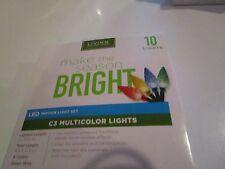 10 MULTI-COLOR C3 LED LIGHTS BATTERY OPERATED NIB