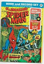 Amazing Spider Man The Mark Of The Man-Wolf ! Book and Record Set 45rpm