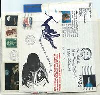 FRANCOBOLLI 1965/2006 USA STATI UNITI 12 DOCUMENTI POSTALI VIAGGIATI D/6034