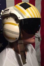 RARE HERO~Vintage Gentrex Flight Helmet w/ Dynamic M-87/AIC Microphone