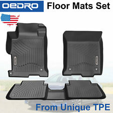 All-Weather Floor Mats Liners Fit for 2013-2017 Honda Accord Sedans Unique TPE