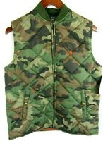 Polo Ralph Lauren Youth Camouflage Down Filled Puffer Vest Large 14-16 Snaps