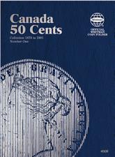 Whitman Canadian 50 Cent Coin Folder 1870-1901 Volume 1 #4009