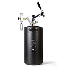 5L Insulated Keg Faucet Pressurized Brewing Beer Dispenser Inc Gas cylinder
