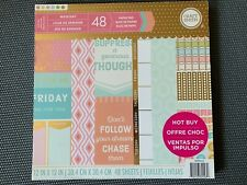"""Craft Smith Paper Pad 48 Sheets """"WEEKDAY"""" 12"""" x 12"""" Scrapbook"""
