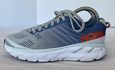 Hoka One One Clifton 6 Womens Running Shoes Blue/Gray Size 7