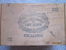 HOYO de MONTERREY de JOSE GENER Excalibur No. 1 Limited Edition Cigar Box
