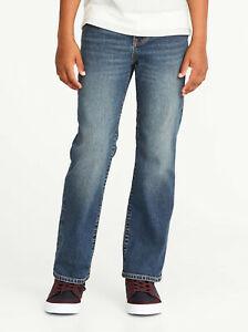 Old Navy Boys Flex Boot-Cut Tinted Wash Jeans Size 8 Slim 10 Plus 14 16 Husky 18