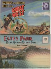 Lot of two Foldout Postcards of the Great West and Colorado Estes Park
