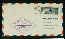 Puerto Rico 1931 First Flight Cover Fam F6-124 San Juan to Nuevitas, franked C10