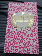 New!Juicy Couture Notebook Pink Gold Leopard Animal Print Binder Notepad Set