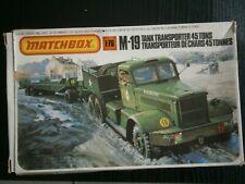 MAQUETTE CAMION TRANSPORTER TANK  M-19 MATCHBOX PK-174 1/76 (no 1/72)