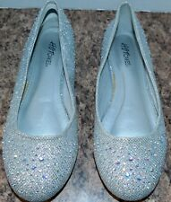 Hot Cakes Size 7 M Womens Dressy Prom Rhinestone Glitter Ballet Slipper Flats