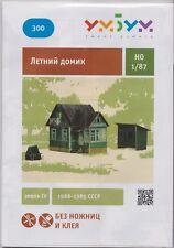Cardboard model kit. Russian summer house (dacha). Scale 1/87 HO.