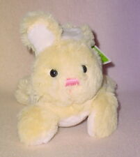 YELLOW BUNNY *  9 INCH * SHORT EARS * PINK NOSE * NEW *