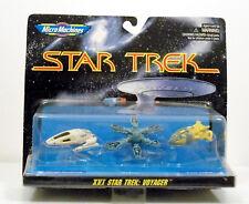 STAR TREK MICRO MACHINES XVI ARRAY, KAZON TORPEDO, VOYAGER SHUTTLECRAFT MINT