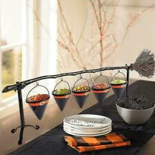 Halloween Broom Stick Snack Bowl Stand For Candy Dessert Plate Party Home Decor