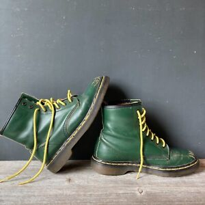 Dr. Martens Green AirWair 1460 Smooth Leather Boots  EU 39  Made In England