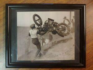1920's MOTORCYCLE HILLCLIMB PHOTO SAN DIEGO CA, TECOLOTE HILLCLIMB