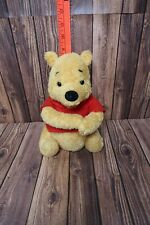 Disney Winnie the Pooh Bear Toy Gund Musical Yellow Red Shirt Vintage