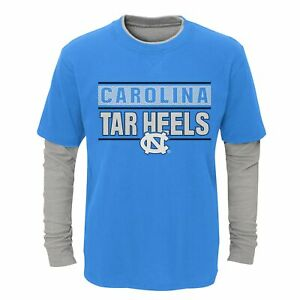 Outerstuff NCAA Youth North Carolina Tar Heels Hardy Fan Faux Layered Top