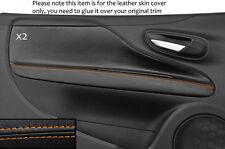 Puntadas de hilo naranja 2x Puerta Tarjeta Trim Skin cubre encaja Fiat Punto Grande Evo 10-14 3DR
