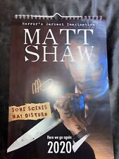 More details for very rare matt shaw signed calendar 2020 - some scenes may disturb