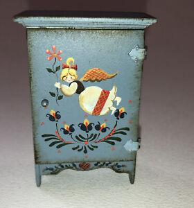 Vintage Artisan KAREN MARKLAND Angel Cabinet Dollhouse Miniature Signed