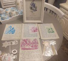 Alice In Wonderland Birthday Party Props Decoration 5 8x10 photos No Frames