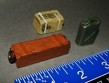1:18 Forces of Valor Unimax Ammo Crate Jerry Can Food Ration Case for Figures