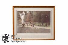 """Parc Monceau 1983"" by Harold Altman Signed Lithograph Realism Landscape Framed"
