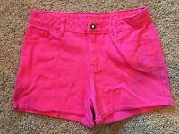 Girls Pink Adjustable Waist Cherokee Shorts XS 4/5