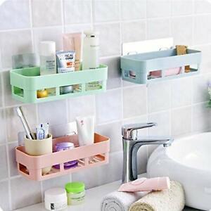 Pack 2 Multicolor Multipurpose Kitchen Bathroom Shelf Wall Holder Storage Rack