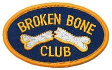 """Broken Bone Club"" Fractured Arm or Leg Break Hospital Iron On Applique Patch"