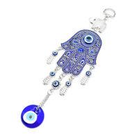 Turkish Blue Evil Eye Hamsa Hand Elephant Amulet Wall Protection Hanging