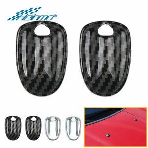 For Mini Cooper F54 F55 F56 F57 F60 Carbon Fiber Engine Hood Wiper Water Spray