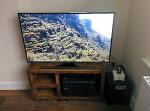 Rennes 3 section wooden tv and display stand