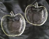 Vintage Hazel Atlas Orchard Clear 6 inch Cereal Bowls, Set of 2 (circa 1940-50s)