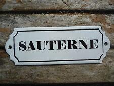 Plaque émaillée CAVE VIN Sauterne émail véritable 800°C Fabriqué en France NEUVE