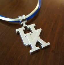 UNIVERSITY of KENTUCKY WILDCATS UK Double Satin Cord PENDANT NECKLACE jewelry