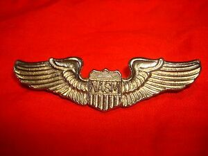 US Air Force NASM WING Insignia Metal Badge + Clutchback Pins
