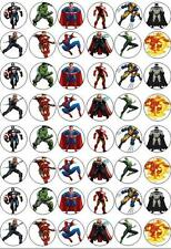 48 Marvel vs Comic Heroes Fairy Cup Cake Toppers Wafer/Rice Paper Edible