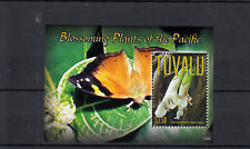 Tuvalu 2013 MNH Blossoming Plants of Pacific 1v S/S Butterflies Flowers Nature