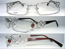 Silver/Brown Nylor Glasses - Fashionable Frame with Rhinestones