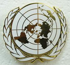 United Nations BERET BADGE - British Made UN Blue Field Cap Hat Metal Insignia