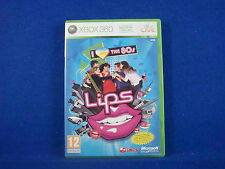 xbox 360 LIPS I LOVE THE 80'S Solus Game MINT DISC - REGION FREE + Pal Exclusive